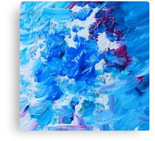 Abstract acrylic painting - a snowstorm. Canvas Print