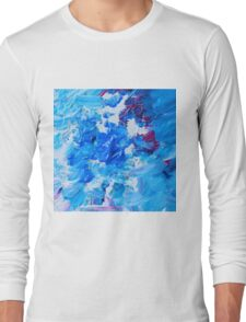 Abstract acrylic painting - a snowstorm. Long Sleeve T-Shirt