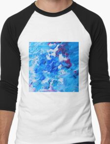 Abstract acrylic painting - a snowstorm. Men's Baseball ¾ T-Shirt