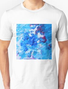 Abstract acrylic painting - a snowstorm. T-Shirt