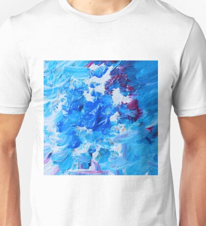Abstract acrylic painting - a snowstorm. Unisex T-Shirt