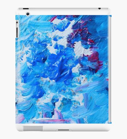 Abstract acrylic painting - a snowstorm. iPad Case/Skin