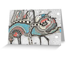 Coffee insect and sandy storm Greeting Card