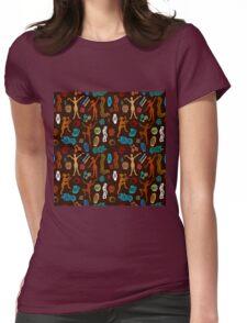 Shamanic dance. Aboriginals art motifs. Womens Fitted T-Shirt