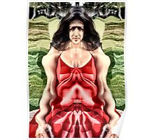 Cubist woman Poster
