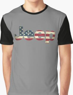 Jeep American Flag Graphic T-Shirt