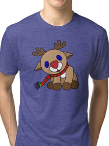 Tilted Reindeer Tri-blend T-Shirt