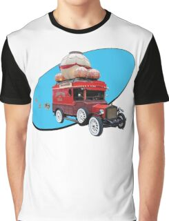 Steampunk Ballooner Wagon Graphic T-Shirt