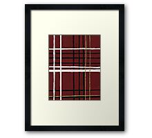 Red Plaid Framed Print