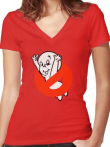 No Ghost Women's Fitted V-Neck T-Shirt