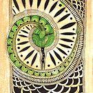 Little green snake by Kseniya Beliaeva