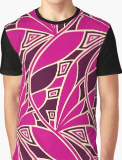Modern art nouveau tessellations cerise and amber Graphic T-Shirt