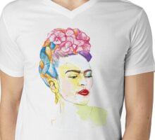 Frida Kahlo Inspired Drip painting Mens V-Neck T-Shirt