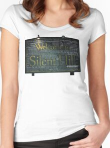 Silent Hill Sign Quotes Women's Fitted Scoop T-Shirt