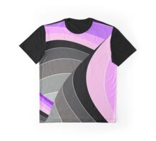 Curves in Gray and Purple Graphic T-Shirt