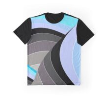 Curves in Gray and Turquoise Graphic T-Shirt