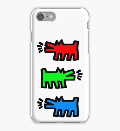 """HARING - RGB """" Red Green Blue"""" iPhone Case/Skin"""