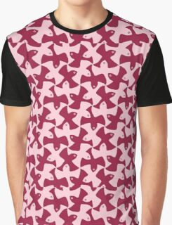 Birds tessellation, raspberry or crimson, light or dark pattern Graphic T-Shirt