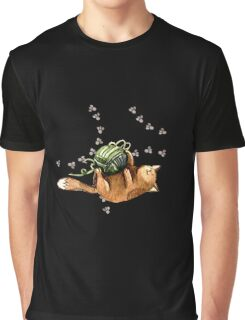 Lovely Cat Playing A Ball Of Wool Graphic T-Shirt