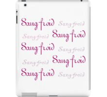 Pink Sang-froid iPad Case/Skin