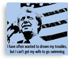 JIMMY CARTER-3 Canvas Print