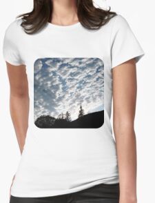 Clouds  Womens Fitted T-Shirt