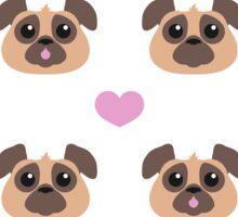 Pug Love Sticker