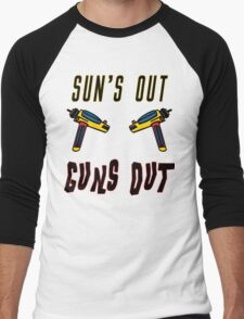 Sun's out, guns out! Men's Baseball ¾ T-Shirt
