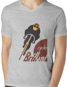 Retro vintage cycles Brillant advertising Mens V-Neck T-Shirt