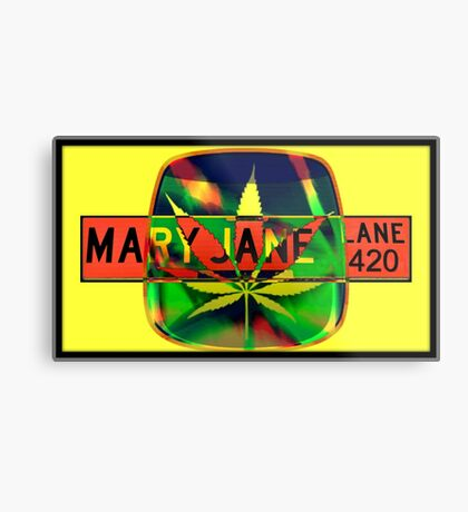 Mary Jane Lane - Leaf Metal Print
