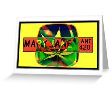 Mary Jane Lane - Leaf Greeting Card