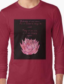 Lotus Flower - Rumi Quote - Inspirational  Long Sleeve T-Shirt