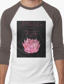 Lotus Flower - Rumi Quote - Inspirational  Men's Baseball ¾ T-Shirt