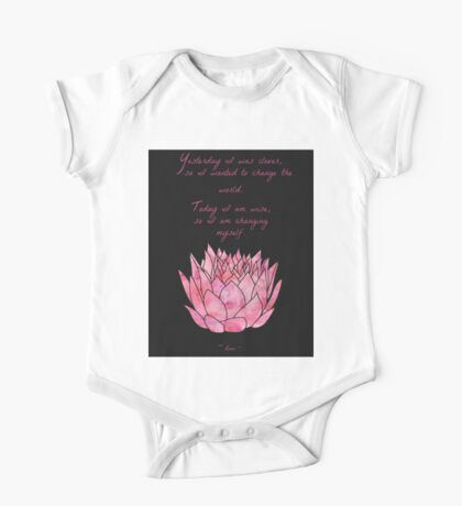 Lotus Flower - Rumi Quote - Inspirational  One Piece - Short Sleeve