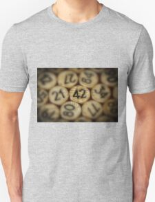 And the answer is.........42 Unisex T-Shirt