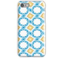 Gold and Blue Crystal Abstract Pattern Design iPhone Case/Skin