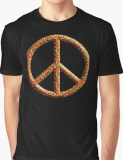 Colorful Peace Hippie 60'S 70'S Graphic T-Shirt