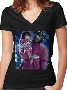 Chris & Royalty Women's Fitted V-Neck T-Shirt