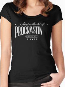 Master the Art of Procrastination / White Women's Fitted Scoop T-Shirt