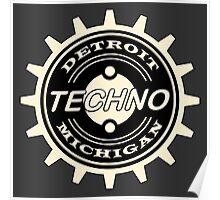 Detroit Techno Music Poster
