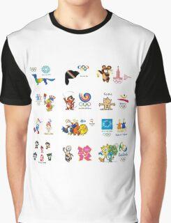 olimpic games mascots juegos olímpicos mascotas sports Graphic T-Shirt