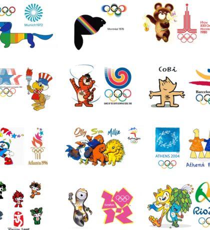 olimpic games mascots juegos olímpicos mascotas sports Sticker