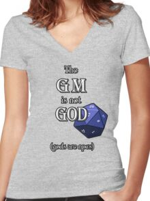 The GM Is Not God Women's Fitted V-Neck T-Shirt