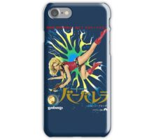 Barbarella Retro Movie Poster - Japanese Edition iPhone Case/Skin