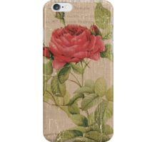 Vintage Burlap Floral 1 iPhone Case/Skin
