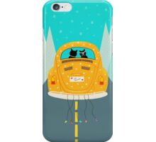 Just Married - Vintage Car Beetle - Cats iPhone Case/Skin