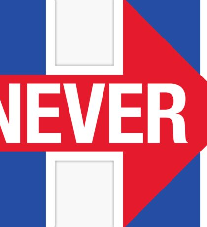 NEVER HILLARY Sticker