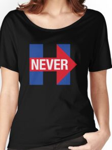 NEVER HILLARY Women's Relaxed Fit T-Shirt