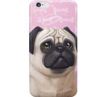 Dapper pug in Pink iPhone Case/Skin