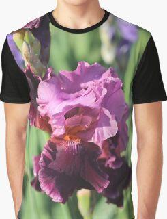 Purple Bearded Iris Graphic T-Shirt